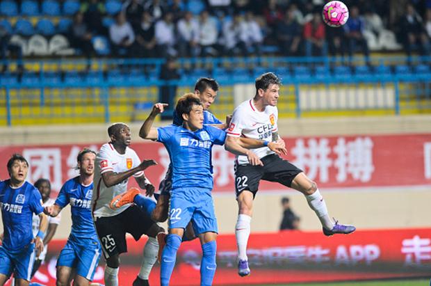 Ersan Gulum playing for Hebei China Fortune