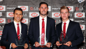 Isaias has won his second Aurelio Vidmar Club Champion Award at the gala Adelaide United Awards Night on Wednesday.