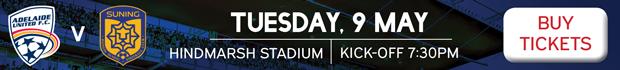 Adelaide United v Jiangsu Suning tickets