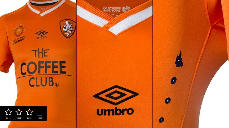 New Brisbane Roar Umbro home kit