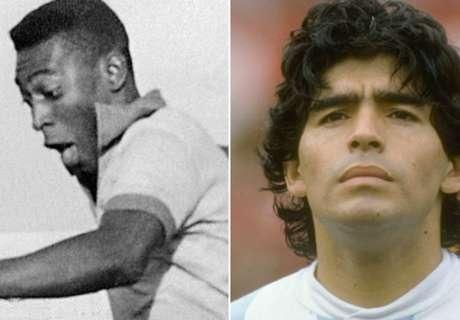 Maradona y la 10 de Pelé