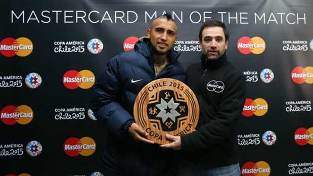 Chile's Arturo Vidal named MasterCard Man of the Match against Ecuador