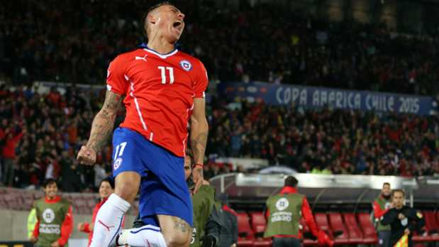 Chile 2 Peru 1: Vargas double fires hosts to Copa América final against 10-man Incas