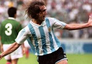 1) Gabriel Batistuta: 54 goles | Disputó 78 encuentros entre 1991 y 2006. Fue determinante en la obtención de las dos últimas Copas América de la Selección argentina, en Chile 1991 y Ecuador 1993.