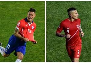 Eduardo Vargas (Chile) y Paolo Guerrero (Perú) compartieron la distinción en la edición 2015, con 4 goles cada uno.