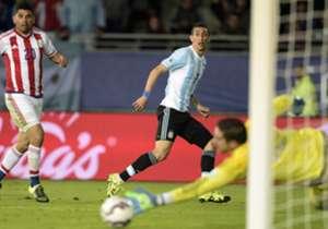 Argentina fue el equipo que más veces le pateó al arco a Paraguay en esta Copa América, con 18 remates.