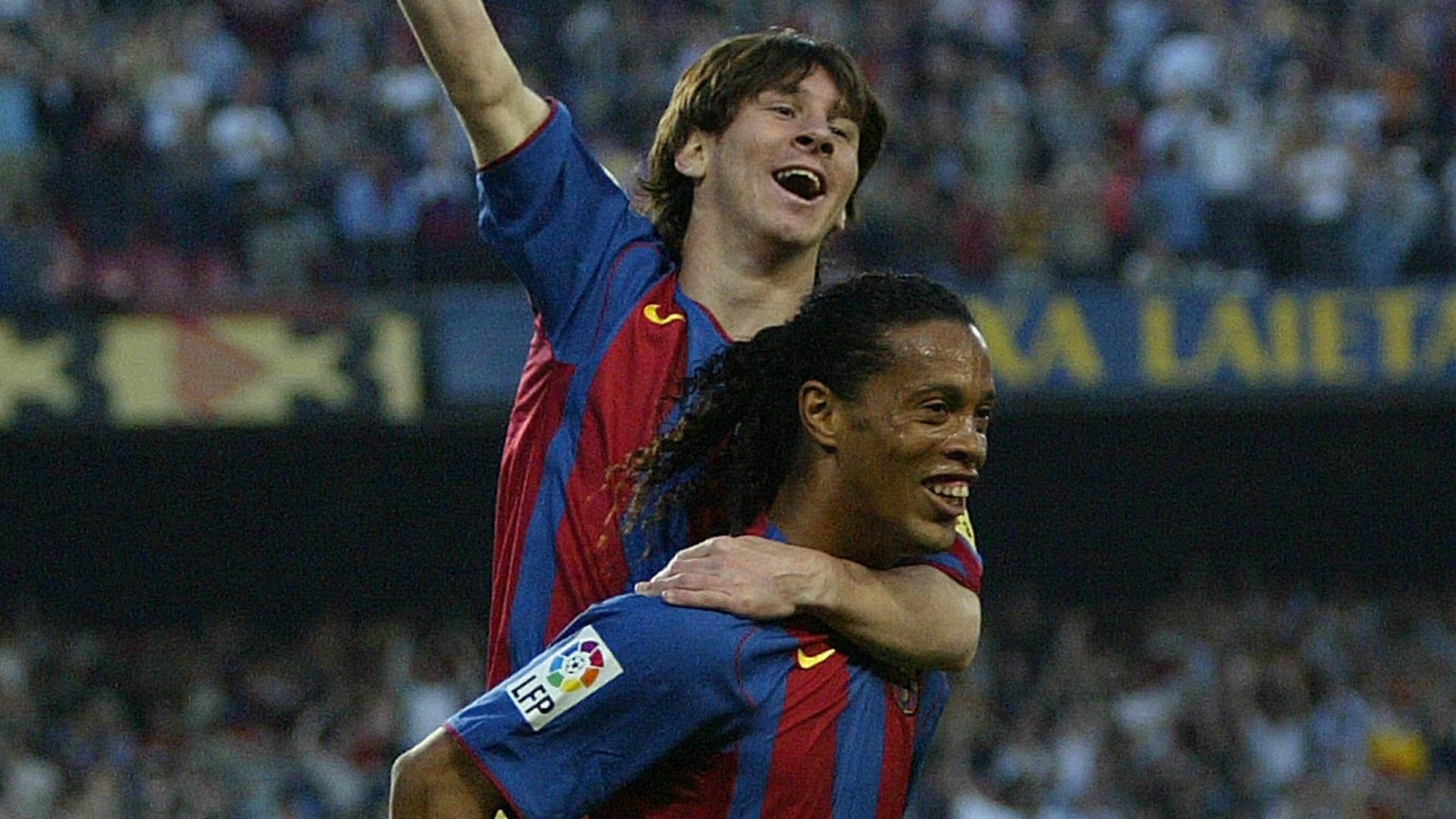 Messi Ronaldinho Barcelona