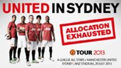 All Stars v Man United - second phase allocation exhausted