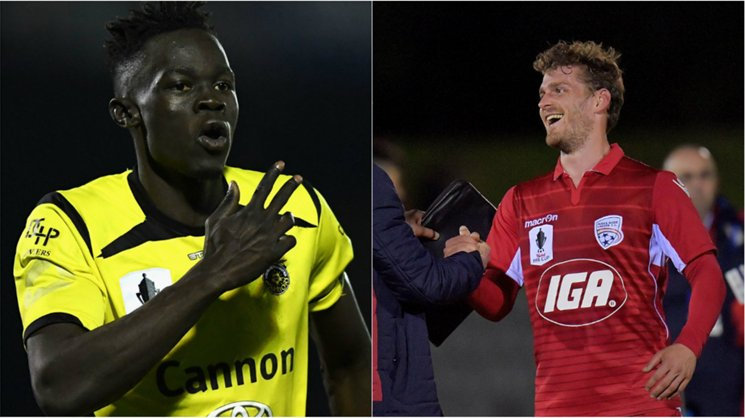 Heidelberg United's Ken Athiu and Adelaide's Johan Absalonsen will be key figures in their Westfield FFA Cup quarter-final in Melbourne.