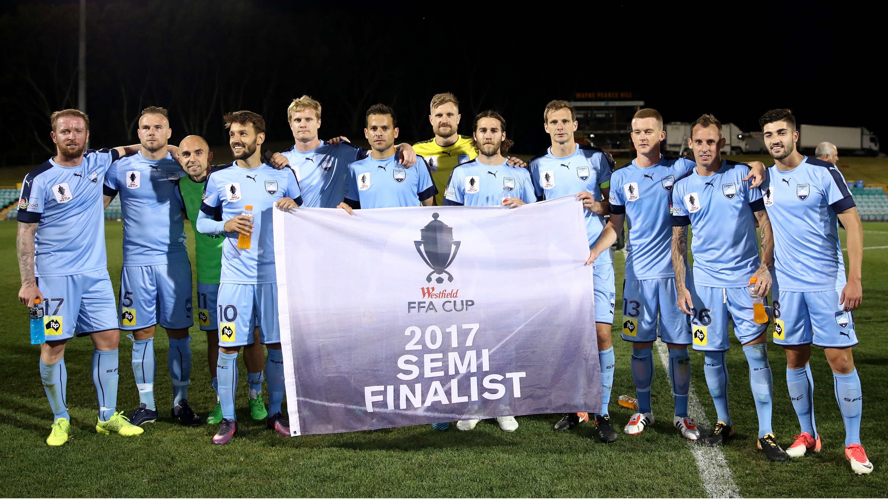 Sydney FC cruised into the FFA Cup Semi Finals with a 2-0 win over Melbourne City.