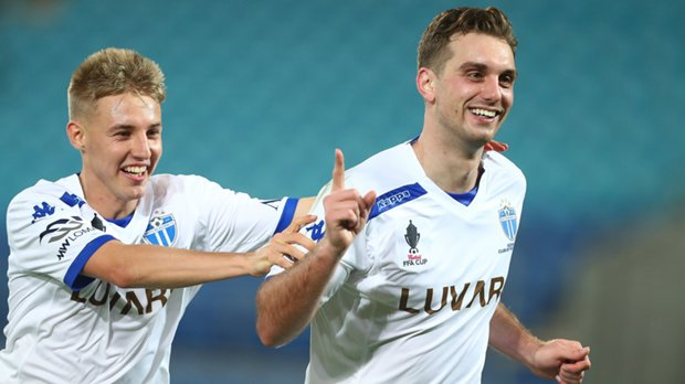 Milos Lujic netted twice in South Melbourne's 6-0 win over Gold Coast City.