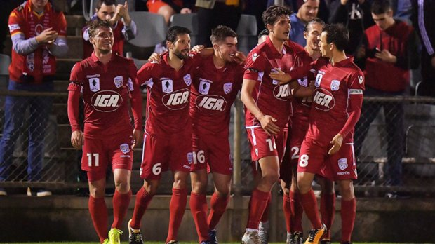 George Blackwood netted in Adelaide United's 3-0 win over Melbourne Victory.