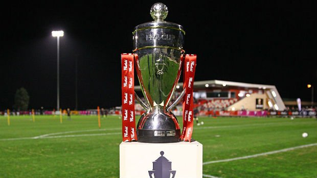 The Westfield FFA Cup trophy.