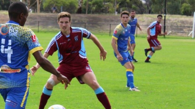 Action from Gawler SC against Playford City