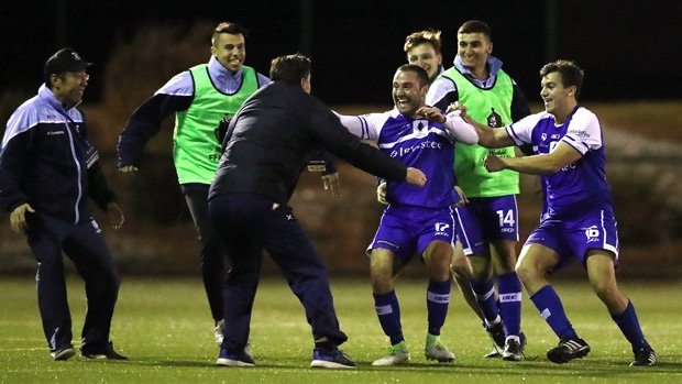 Hakoah Sydney City downed Hills United 6-3 to progress to the Round of 16.