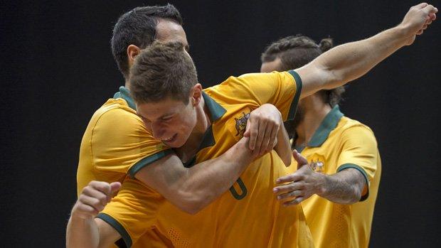 The Futsalroos downed Solomon Islands 3-0 in Sydney. Image: Damian Briggs