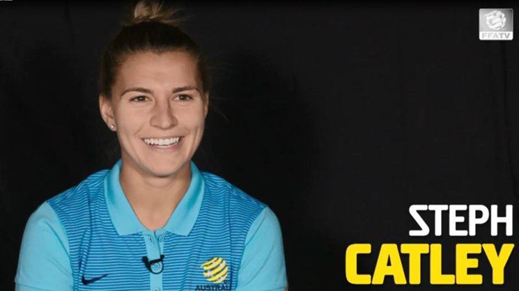 Westfield Matildas star Steph Catley.