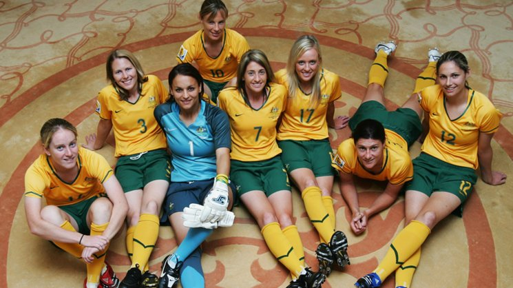 A host of the Westfield Matildas squad prior to the 2007 World Cup.