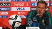 Westfield Matildas Head Coach Alen Stajcic addresses media at the 2015 FIFA Women's World Cup.