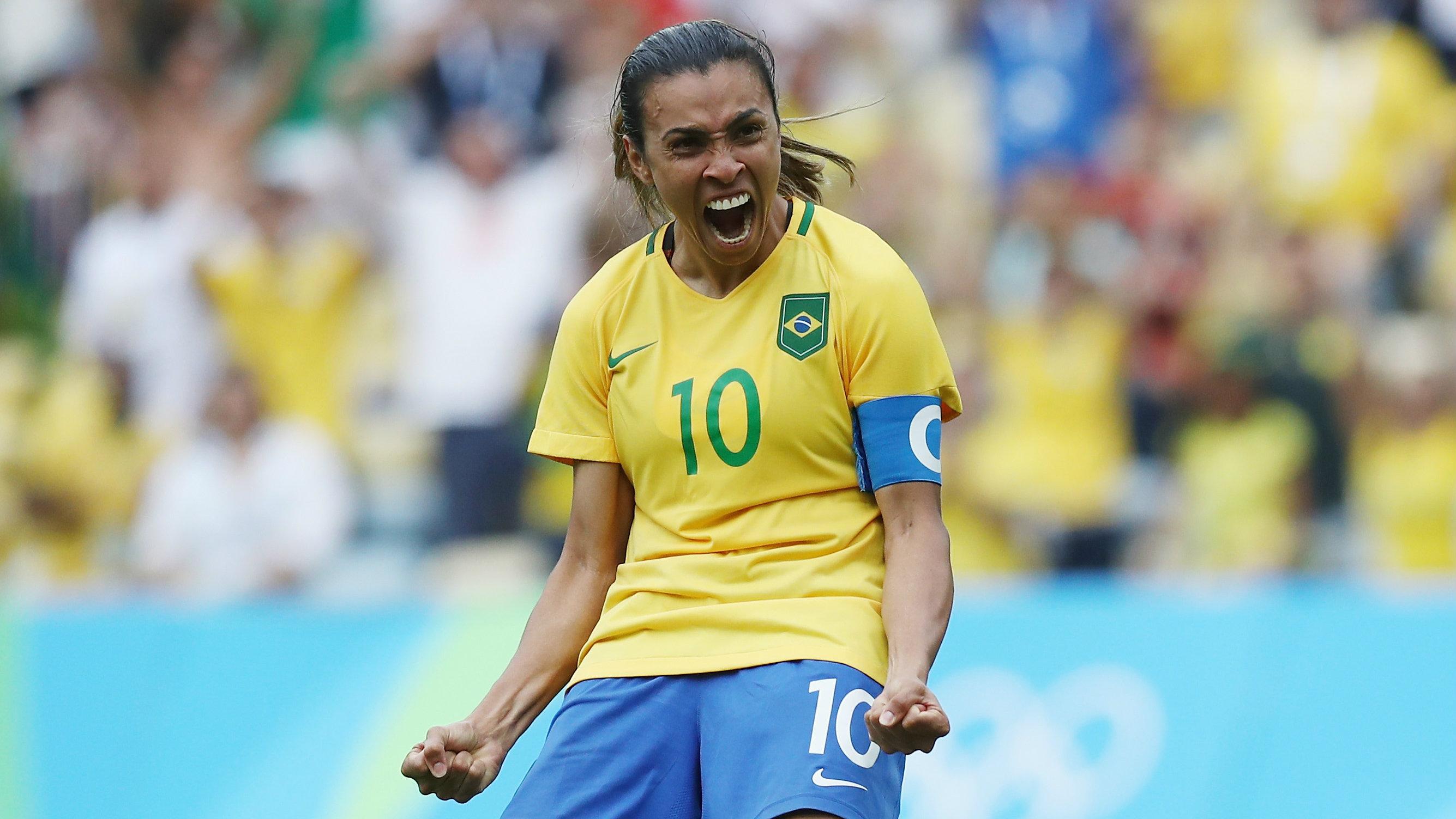 Brazilian superstar Marta has been named to face the Matildas next month in Australia.