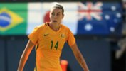 Alanna Kennedy in action for the Westfield Matildas at the recent Tournament of Nations in the US.