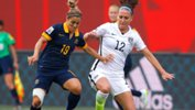 Katrina Gorry in action against the USA at the 2015 FIFA World Cup.