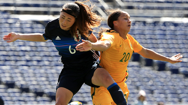 Kerr scores first-half hat-trick as Matildas thump Japan