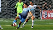 Sam Kerr set up her side's equaliser in the WNSL on Monday. Image credit: Sky Blue FC.