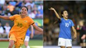 We've crunched the Opta Data to compare Westfield Matildas star Sam Kerr and Brazil's Marta.