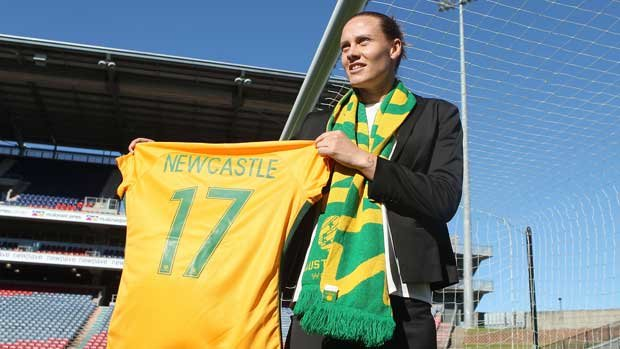 Newcastle-born Westfield Matildas star Emily van Egmond will get a rare chance to play in front of family and friends against Brazil.
