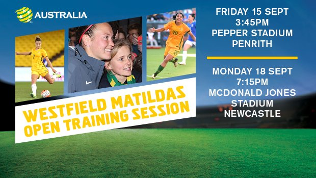 Come and see the Westfield Matildas train in Penrith and Newcastle!