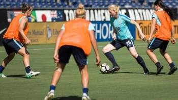 Gallery: Matildas prepare for Japan test