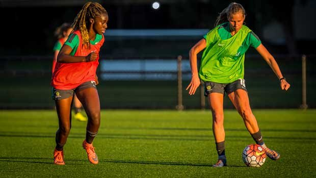 18 Australian based Westfield Matildas are at a training camp ahead of the 2017 Tournament of Nations.