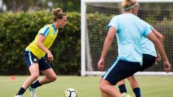 Gallery: Matildas train ahead of Brazil clash