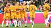 The Westfield Matildas celebrate scoring against New Zealand in a friendly last year.