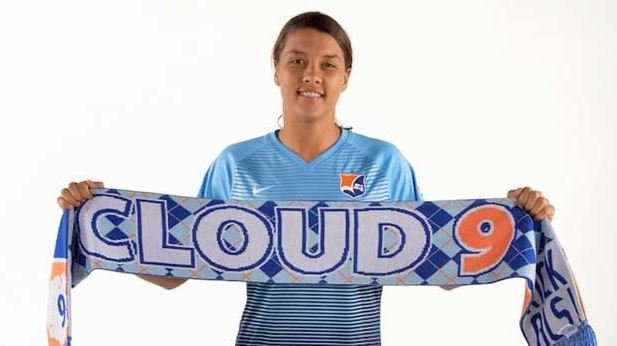 Sam Kerr was voted the player of the week in America's National Women's Soccer League. Pic courtesy of Sky Blue FC Twitter