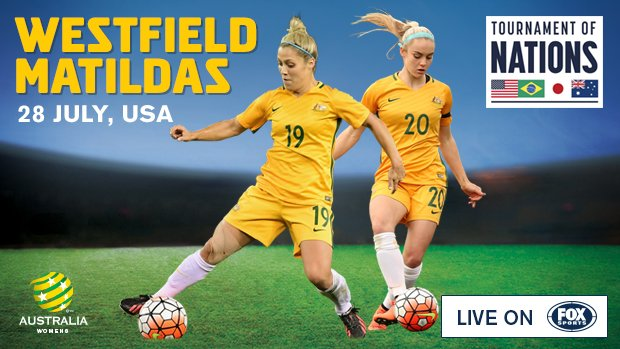 Australia's Tournament of Nations matches will be broadcast on Fox Sports.