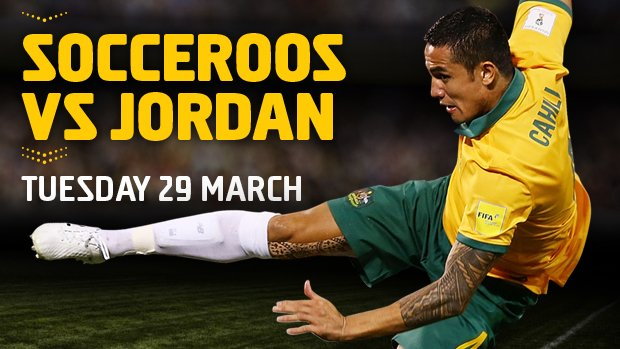 The Socceroos will play Jordan in a FIFA World Cup qualifier in Sydney.