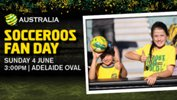 Come join in the action at the Caltex Socceroos' Fan Day at Adelaide Oval.