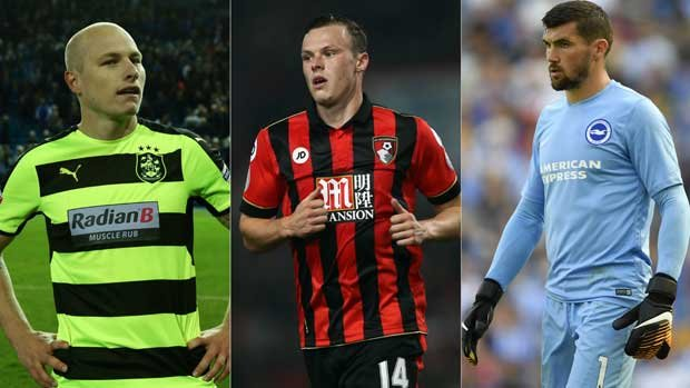 Huddersfield's Aaron Mooy, Bournemoth's Brad Smith and Brighton goalkeeper Mat Ryan and three of the Aussies in the EPL this season.