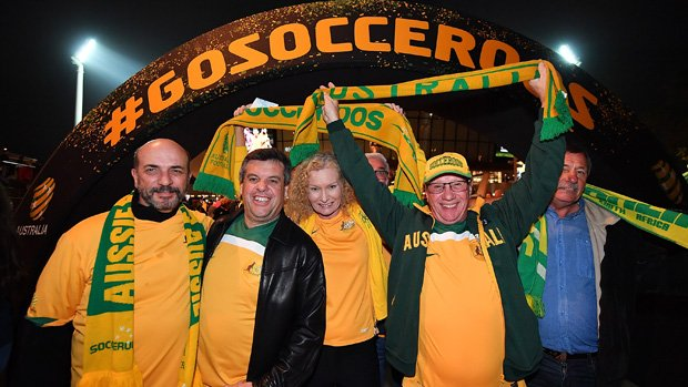 Caltex Socceroos fans show their support at the recent World Cup Qualifier against Saudi Arabia.
