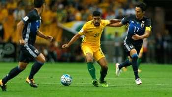 Gallery: Japan edge out Caltex Socceroos