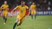 Caltex Socceroos attacker Nathan Burns has signed with Japanese club Sanfrecce Hiroshima.