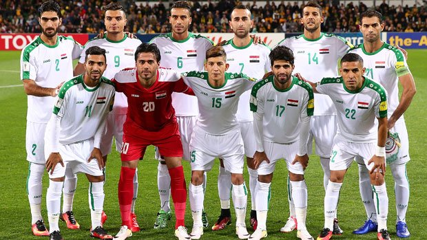 The Iraq starting XI in the last World Cup qualifier against the Caltex Socceroos in Perth.