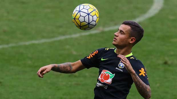 EPL star Philippe Coutinho is included in Brazil's squad to face the Caltex Socceroos.