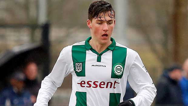 Young Aussie midfielder Ajdin Hrustic, who made his Eredivisie debut with FC Groningen on the weekend.