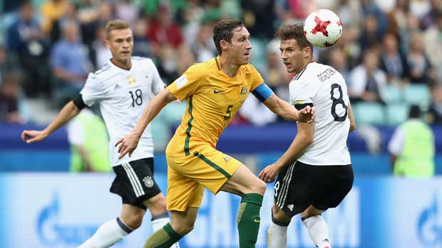 Mark Milligan's experience is shining through for the Caltex Socceroos at the FIFA Confederations Cup