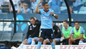 Ali Abbas celebrates a goal for Sydney FC.