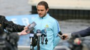 Caltex Socceroos defender Josh Risdon addresses media in Perth on Monday.