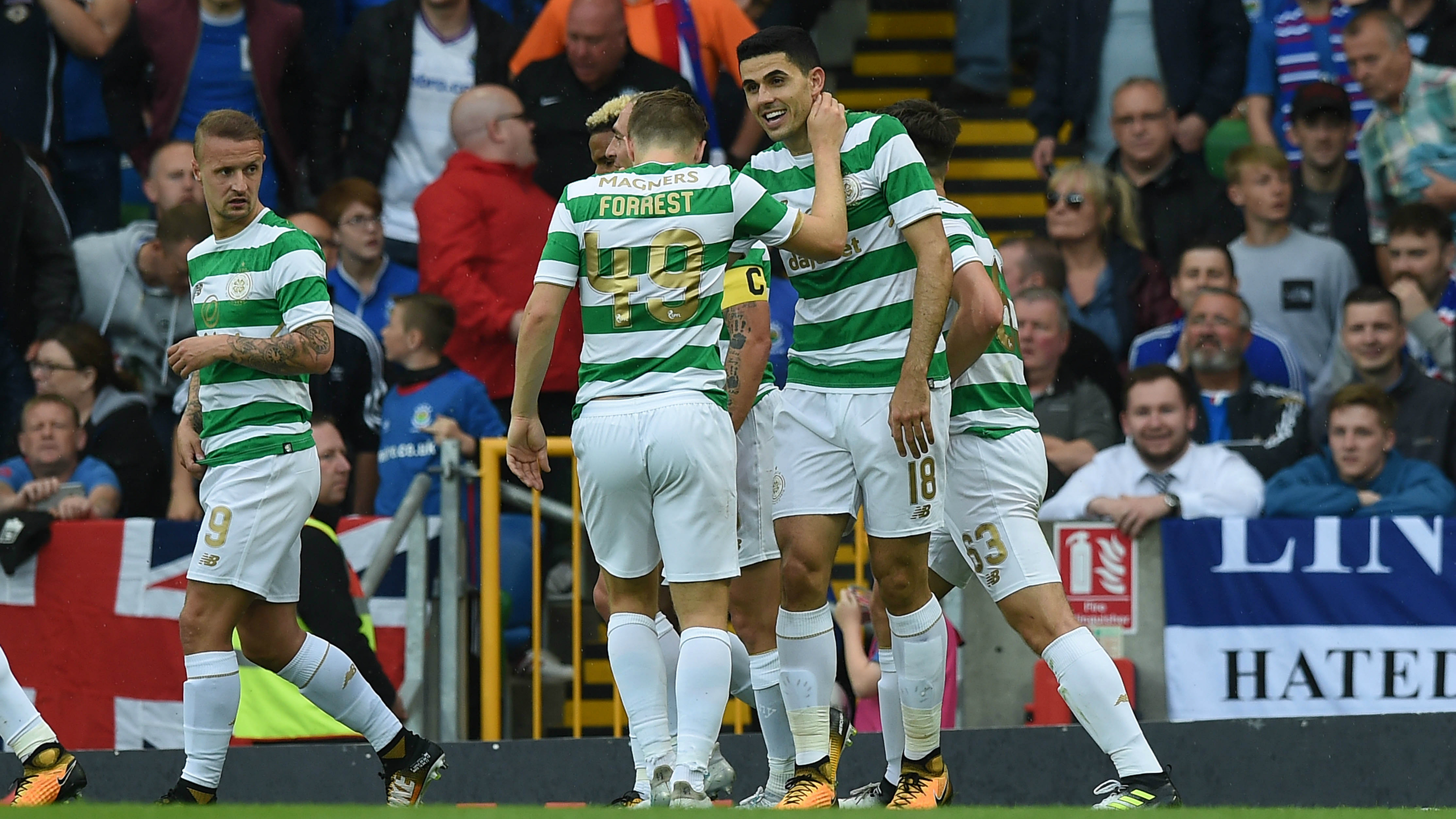 Rogic shines as Celtic extend winning start
